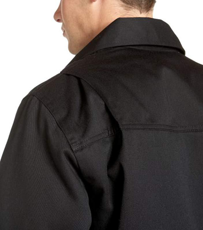 b4ef82fdfae Dickies - Black Hip Length Twill Jacket for Men - Lyst. View fullscreen