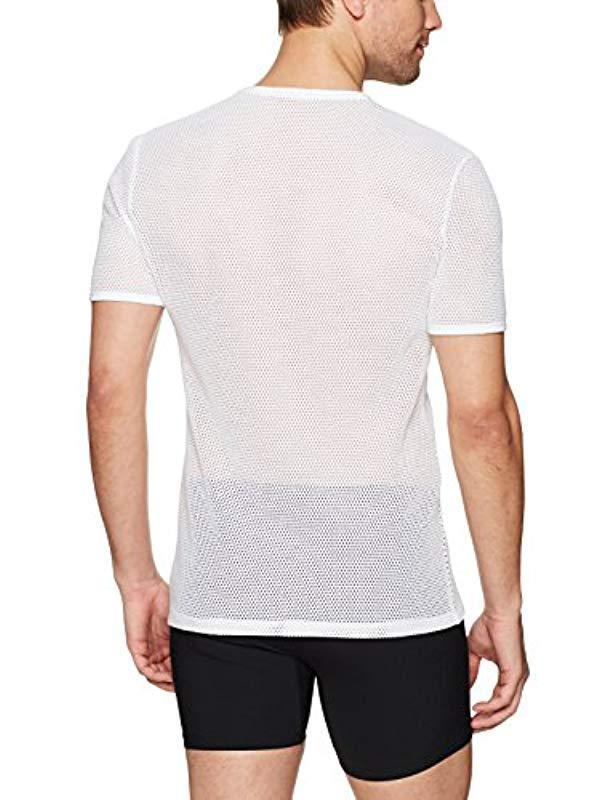 9da8b44f8b626 Calvin Klein - White Body Mesh Short Sleeve Crew Neck Tee for Men - Lyst.  View fullscreen