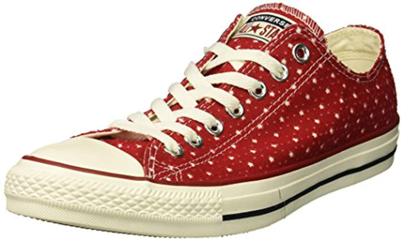9f7f31bb8eccbe Lyst - Converse Unisex Chuck Taylor Perforated Stars Low Top Sneaker ...