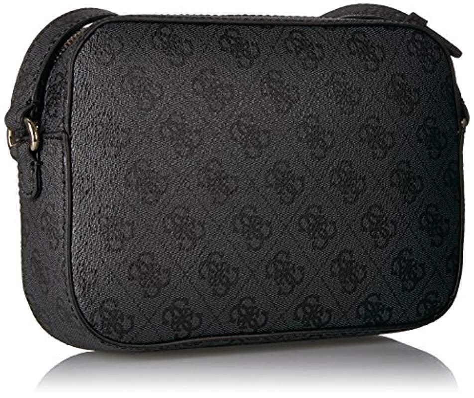 b567942b1a Guess - Black Kamryn 4g Logo Crossbody Top Zip - Lyst. View fullscreen