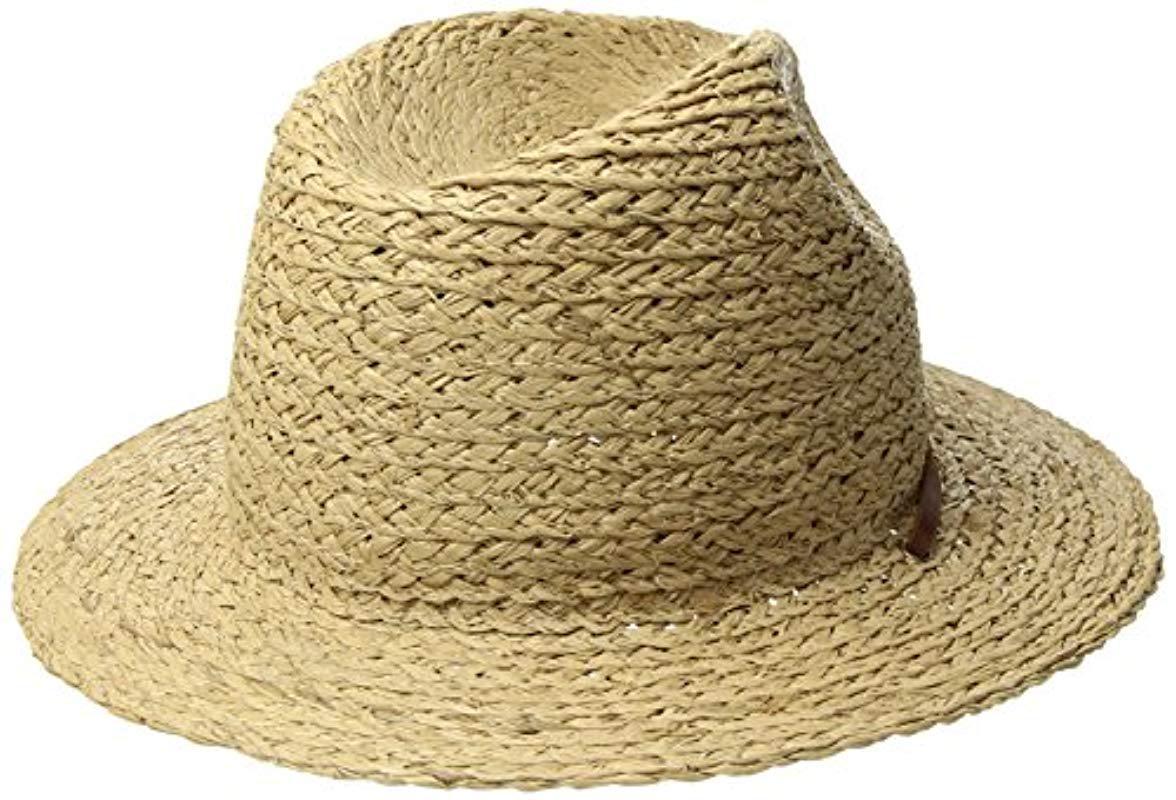 41fd536f13411 Brixton - Multicolor Levon Short Brim Straw Fedora Hat for Men - Lyst. View  fullscreen