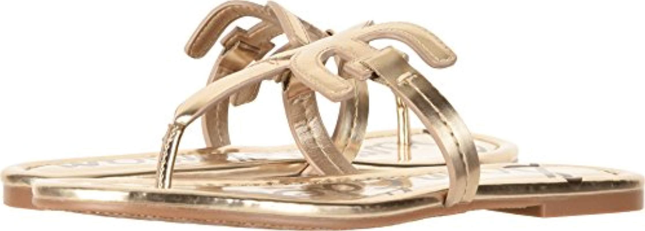 70557c4afbc Lyst - Sam Edelman Carter Flat Sandal in Metallic - Save 31%