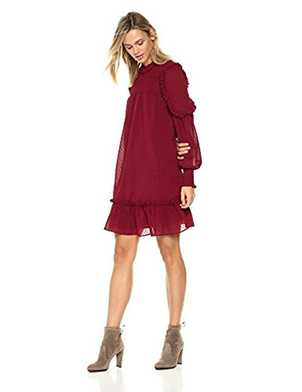 694397c9010d Lyst - Ella Moon Evelina Smocked Drop Waist Dress in Red