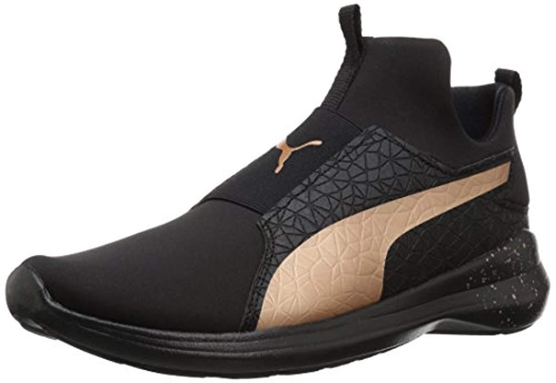 bc1931fb12c6 Lyst - PUMA Rebel Mid Wns Mettallic Sneaker in Black