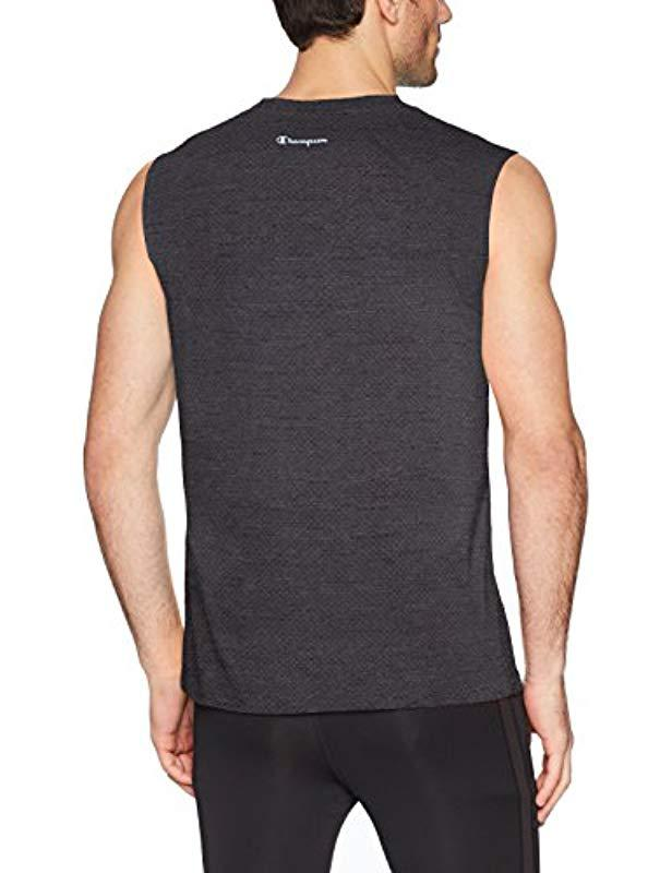 36acd14d7 Lyst - Champion Double Dry Heather Muscle Tee in Gray for Men - Save 30%