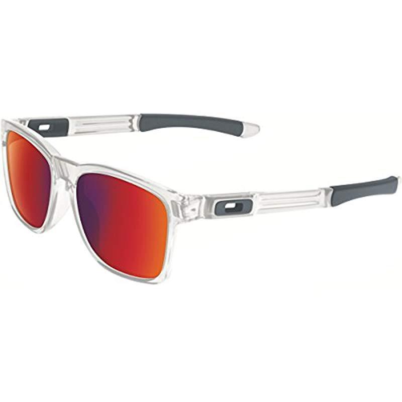 b99e7d4485 Lyst - Oakley Catalyst Square Sunglasses for Men - Save 20.0%