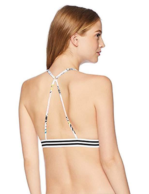 3df41e29c7 Lyst - Rip Curl Delilah Fixed Tri Bikini Top in White