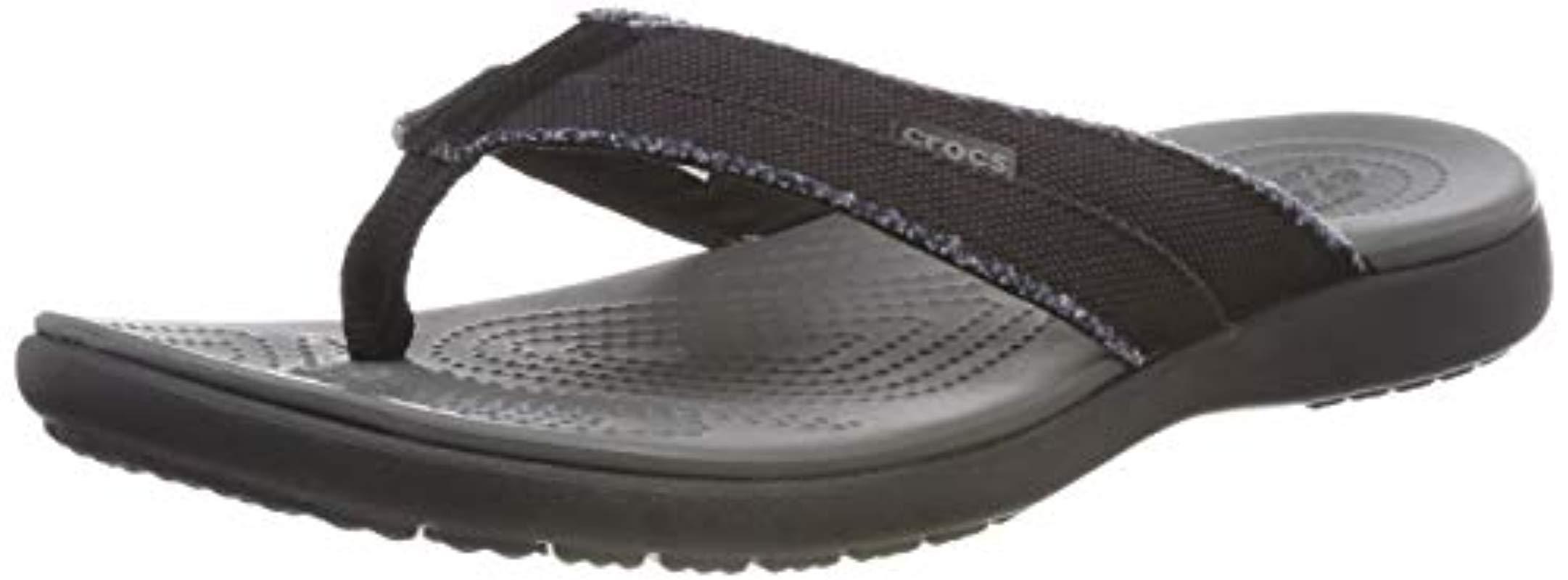 26ac4b07d51c Lyst - Crocs™ Santa Cruz Canvas Flip Flop in Gray for Men - Save 3%