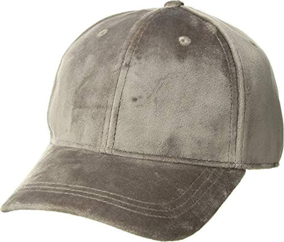 08c8524362d Lyst - Michael Stars Velvet Baseball Cap - Save 81.25%