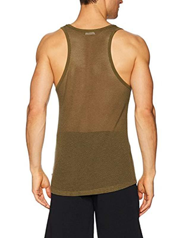 b949a8d1dbae5 Lyst - Calvin Klein Body Mesh Tank in Green for Men - Save 62%