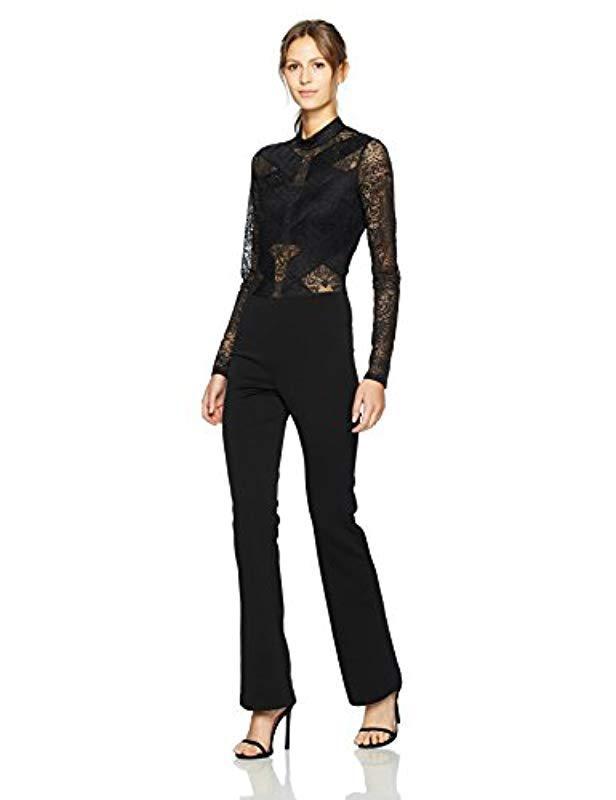 2531fc46c63 BCBGMAXAZRIA - Black Elshane Knit Jumpsuit - Lyst. View fullscreen