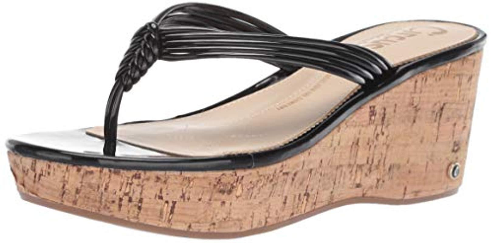 b079563c1 Lyst - Circus by Sam Edelman Ruby Wedge Sandal in Black - Save 28%