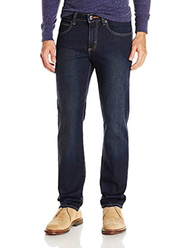 6d846932 Lyst - Lee Jeans Modern Series Straight Fit Knit Jean in Blue for ...
