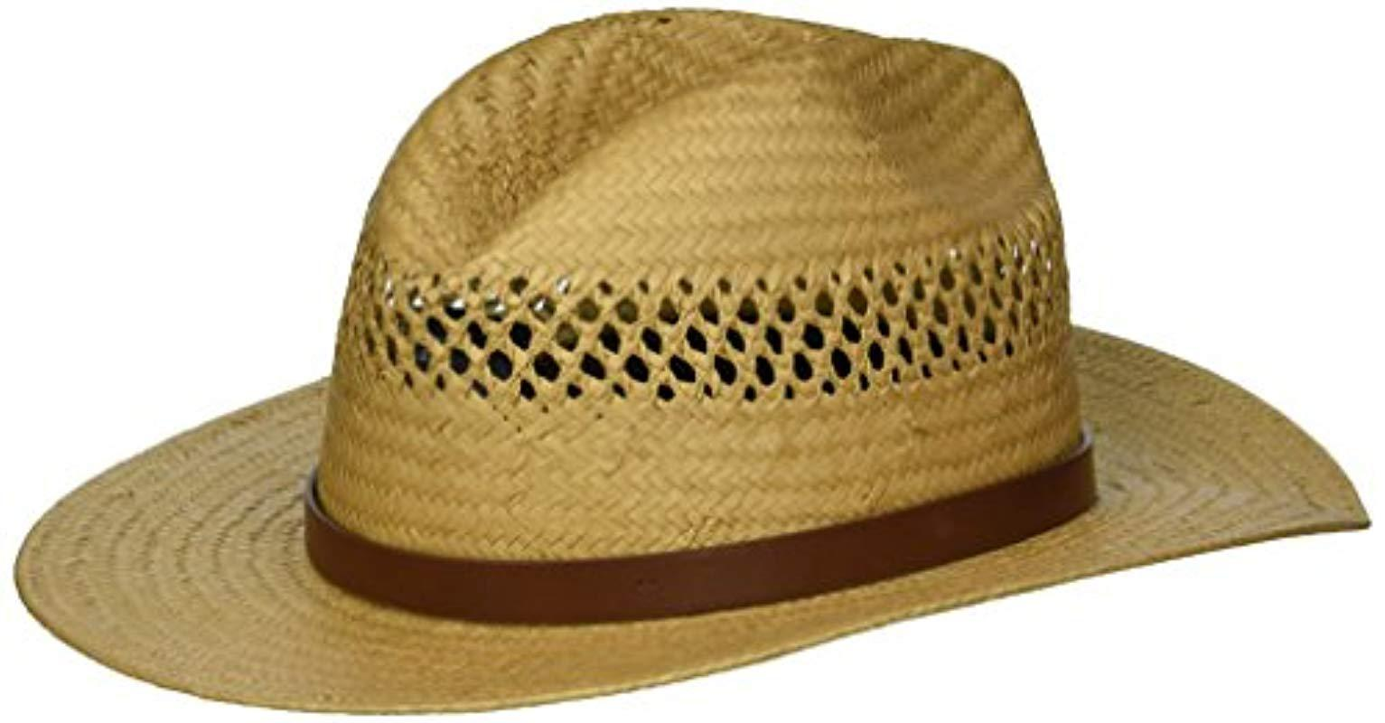 c03c509f59f5d4 Lyst - Brixton Case Medium Brim Straw Fedora Hat for Men - Save 46%