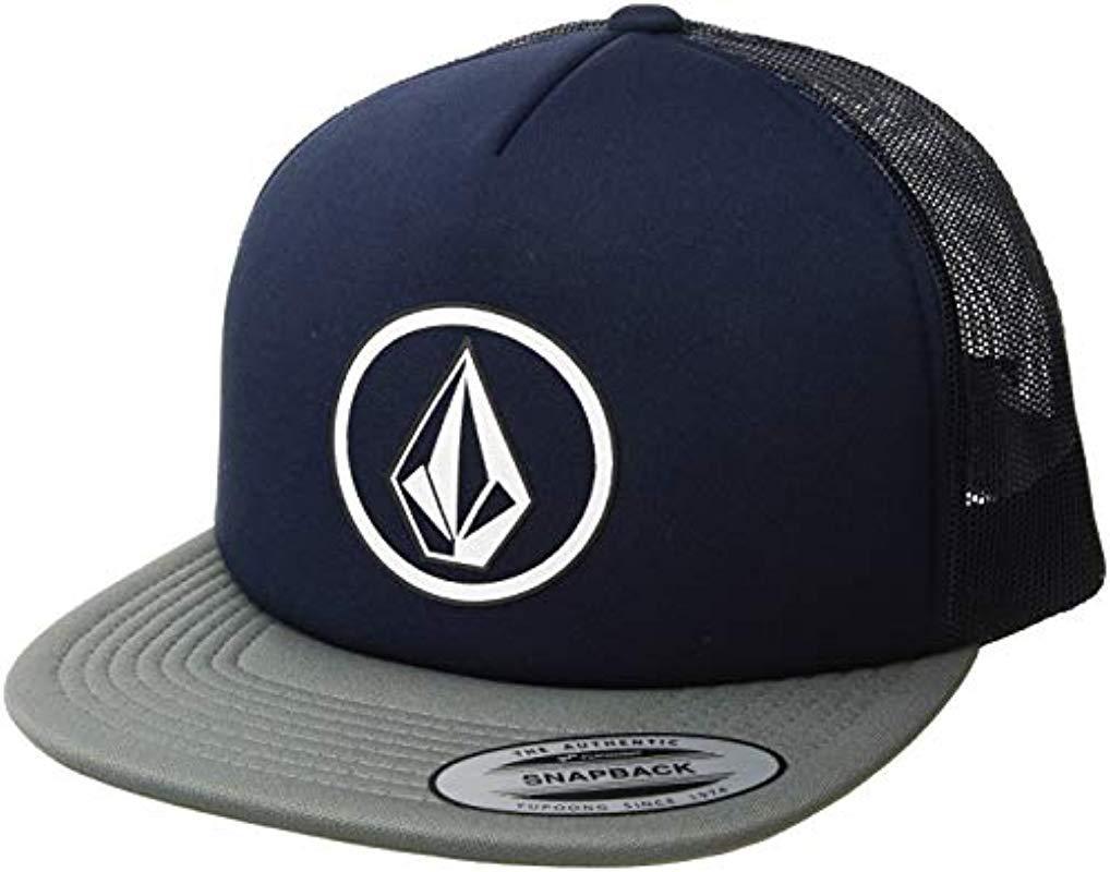 a8557d04b86ca Volcom - Blue Full Frontal Cheese 5 Panel Trucker Hat for Men - Lyst. View  fullscreen