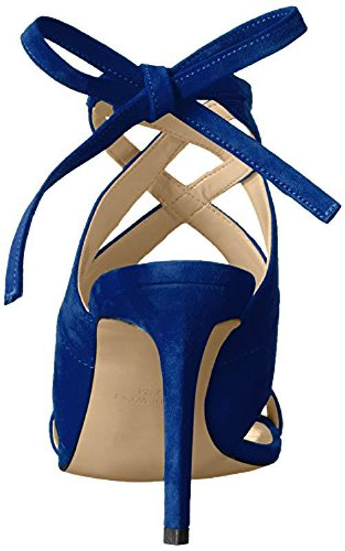 bfbb5e354cd6 Nine West - Blue Ronnie Suede Dress Sandal - Lyst. View fullscreen