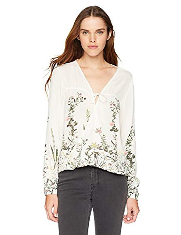 dbda414eb3a O'neill Sportswear Dresden Printed Top in White - Save 41% - Lyst
