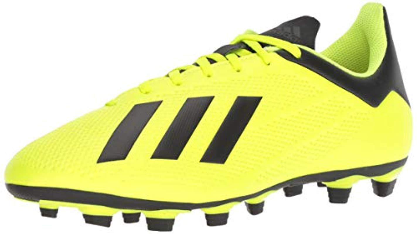 0365da71e Adidas - Yellow X 18.4 Firm Ground Soccer Shoe for Men - Lyst. View  fullscreen