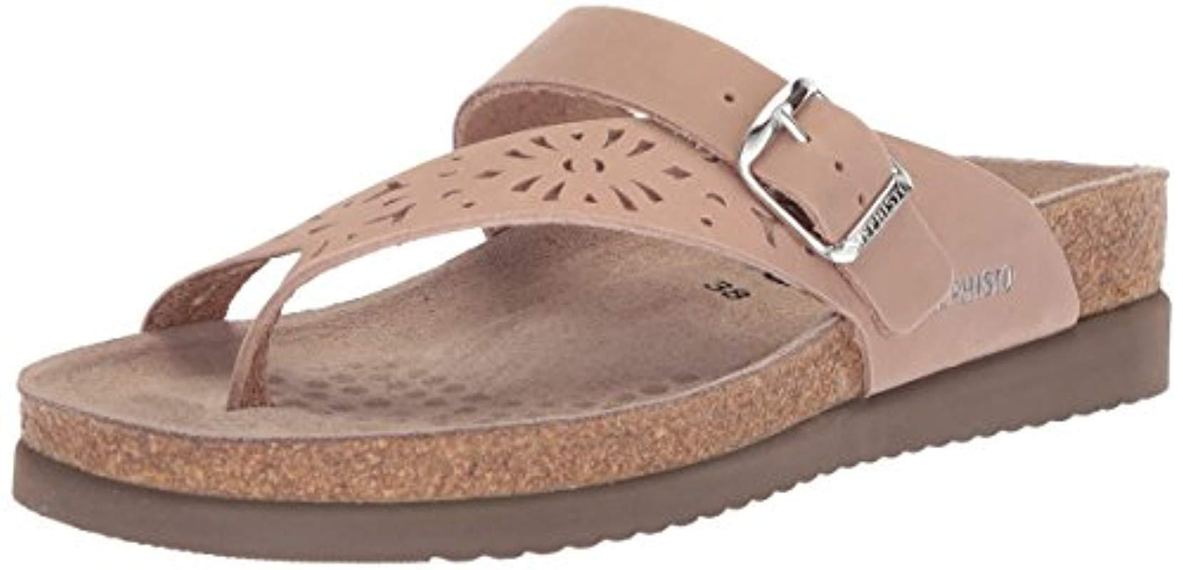 28428d3d0f09 Lyst - Mephisto Helen Thong Sandals in Brown - Save 1%