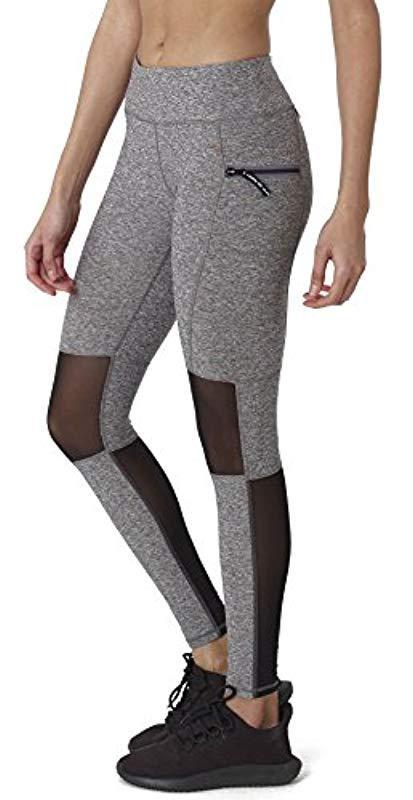86e57b7819ff43 X By Gottex - Gray Leggings  activewear, Easy Access Pocket  Mesh Full  Length