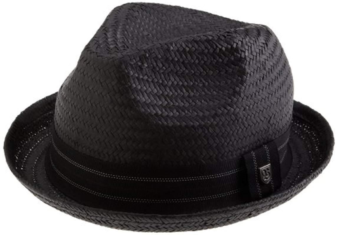 8018ddfd340 Brixton - Black Drifter Straw Fedora Hat for Men - Lyst. View fullscreen
