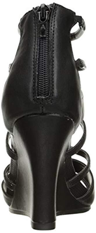 340f888c06f6 Aerosoles - Black Capital Wedge Sandal - Lyst. View fullscreen