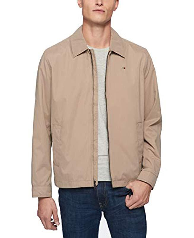 4fdcb36b Lyst - Tommy Hilfiger Lightweight Full-zip Jacket in Natural for Men ...