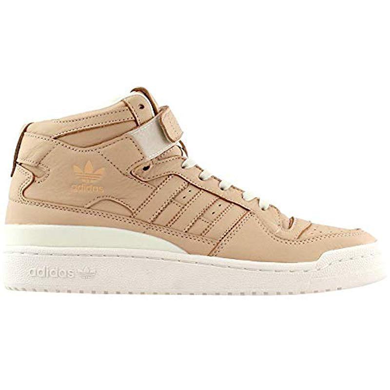 sale retailer 06c20 d97d9 Adidas Originals - Brown Forum Mid Refined Fashion Sneaker for Men - Lyst.  View fullscreen