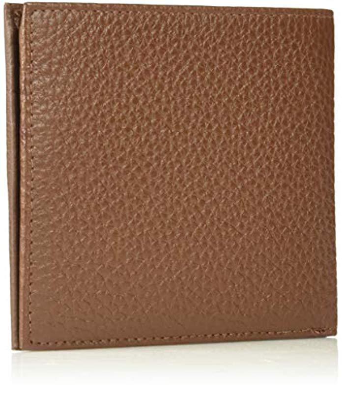 f034baeeef40 Ted Baker - Brown Looeze Pebble Leather Wallet for Men - Lyst. View  fullscreen