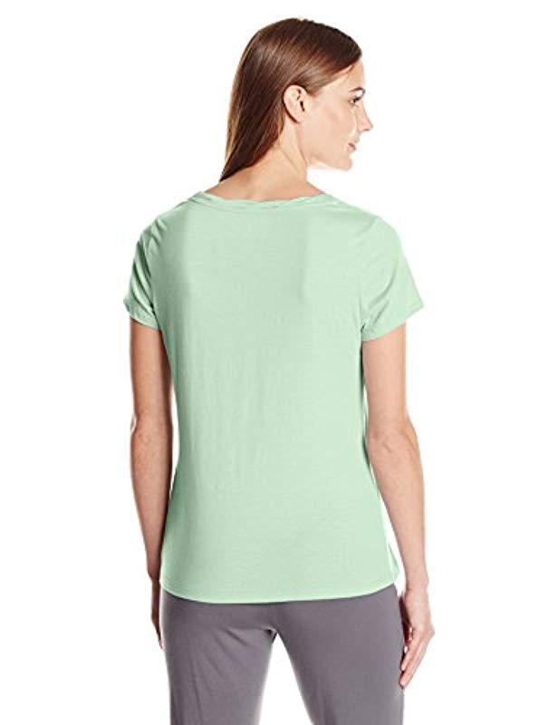 Lyst - Jockey Cotton Jersey Short Sleeve Top in Green - Save  5.882352941176464% a6fd19dc4