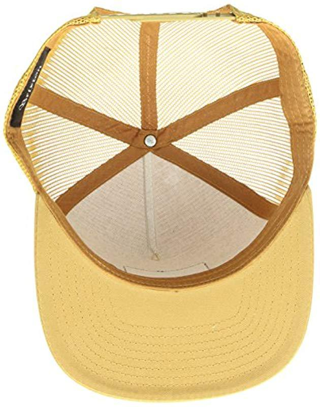 0f80de5b79b Brixton - Metallic Palmer Medium Profile Adjustable Mesh Hat for Men -  Lyst. View fullscreen