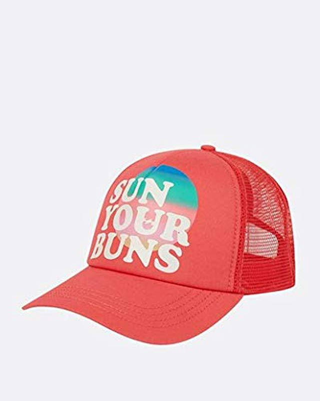 c87832f4d1c4a Lyst - Billabong Sun Your Bunz Hat in Red - Save 42%