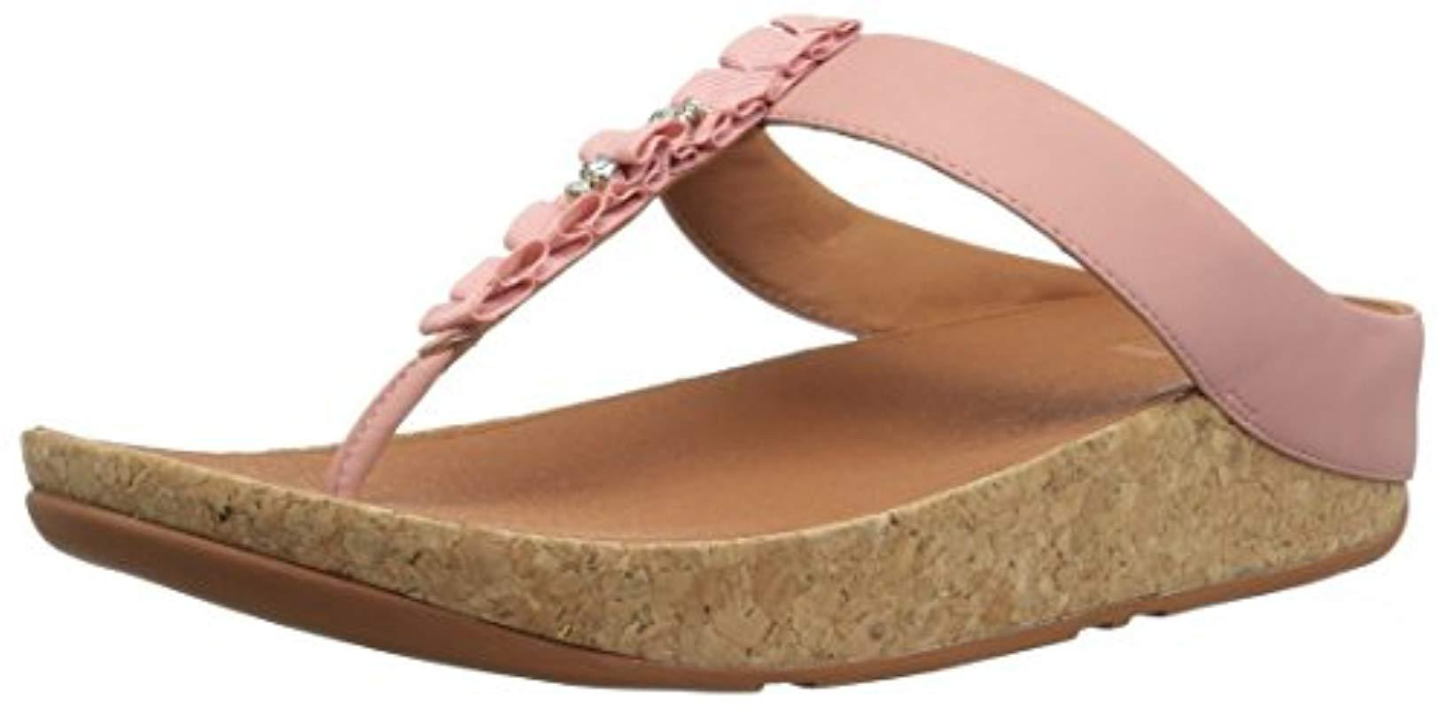 73e1b4da7802aa Lyst - Fitflop Ruffle Toe-thong Sandal in Pink - Save 24%