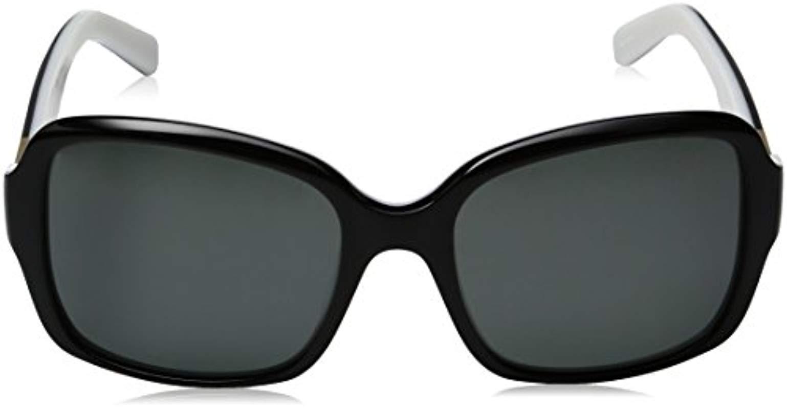 c2d134db164e2 ... Black Kate Spade Annora ps Annorps Polarized Rectangular Sunglasses -  Lyst. View fullscreen