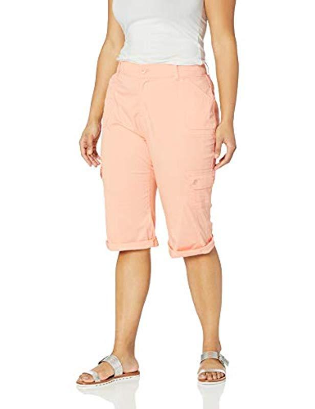 bb46463373f Lyst - Lee Jeans Plus Size Flex-to-go Relaxed Fit Utility Capri Pant