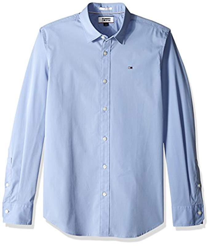2b659cba Lyst - Tommy Hilfiger Button Down Shirt Original Stretch in Blue for ...