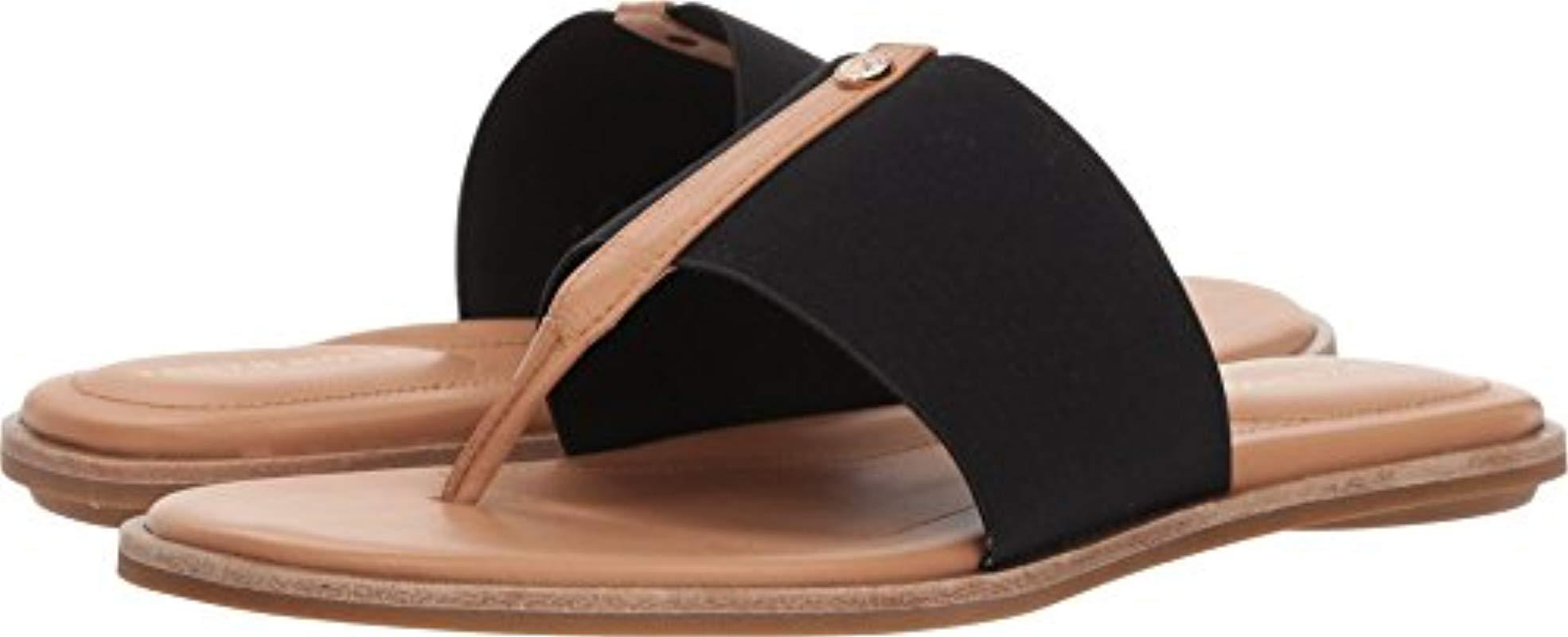 152bdf248f7 Lyst - Taryn Rose Kamryn Vachetta Flat Sandal in Black - Save 35%