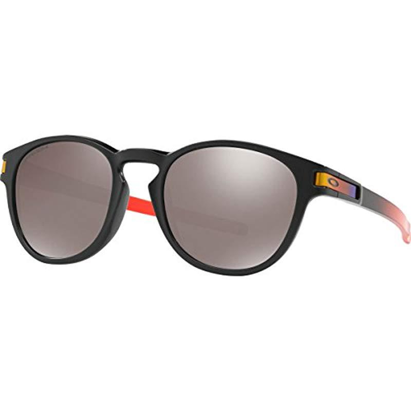 cd634989af Lyst - Oakley Latch (a) Non-polarized Iridium Round Sunglasses in ...