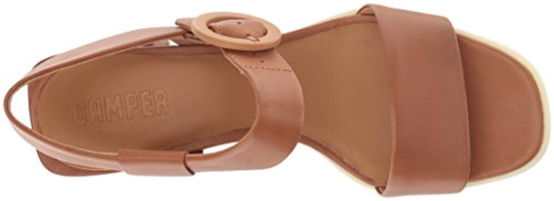 K200342 Lyst Kobo Brown Heeled Sandal Camper In wxz8xFftq
