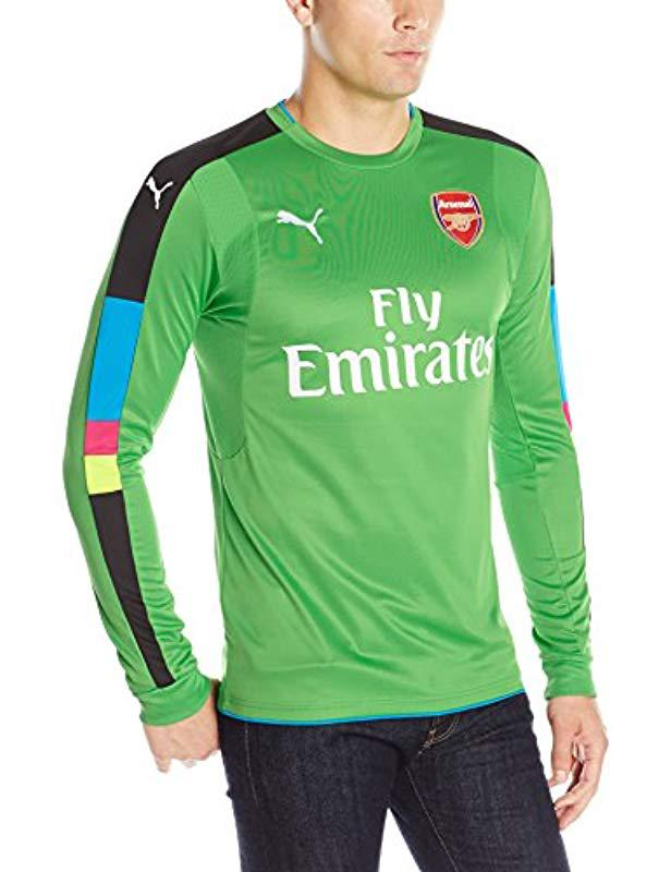 Lyst - Puma Arsenal Fc Shirt Long Sleeve With Sponsor Logo in Green ... a7b058a3e