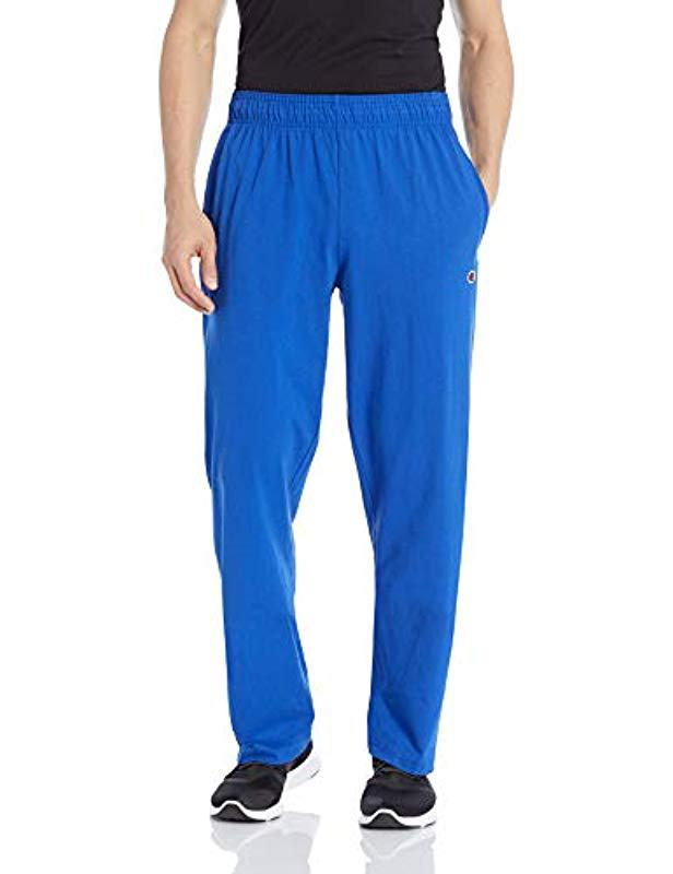 aa77be16a81f Lyst - Champion Open Bottom Lightweight Jersey Pant in Blue for Men