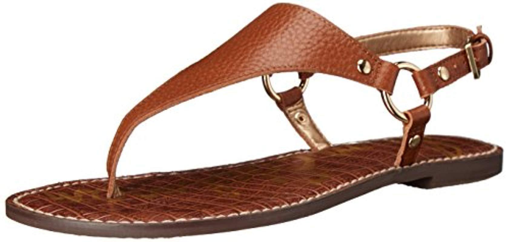 155d45c27 Lyst - Sam Edelman Greta Flat Sandal in Brown - Save 33%