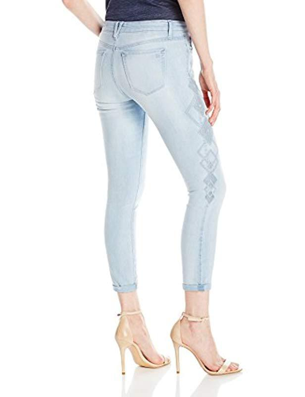 2cec6b6a154 Lyst - Jessica Simpson Forever Roll Cuff Skinny Crop To Ankle Jean in Blue