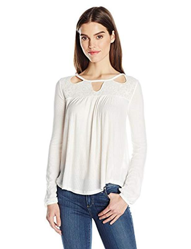 8888a4c4db4cea Lyst - Jessica Simpson Plus-size Fifi Top in White - Save 7%