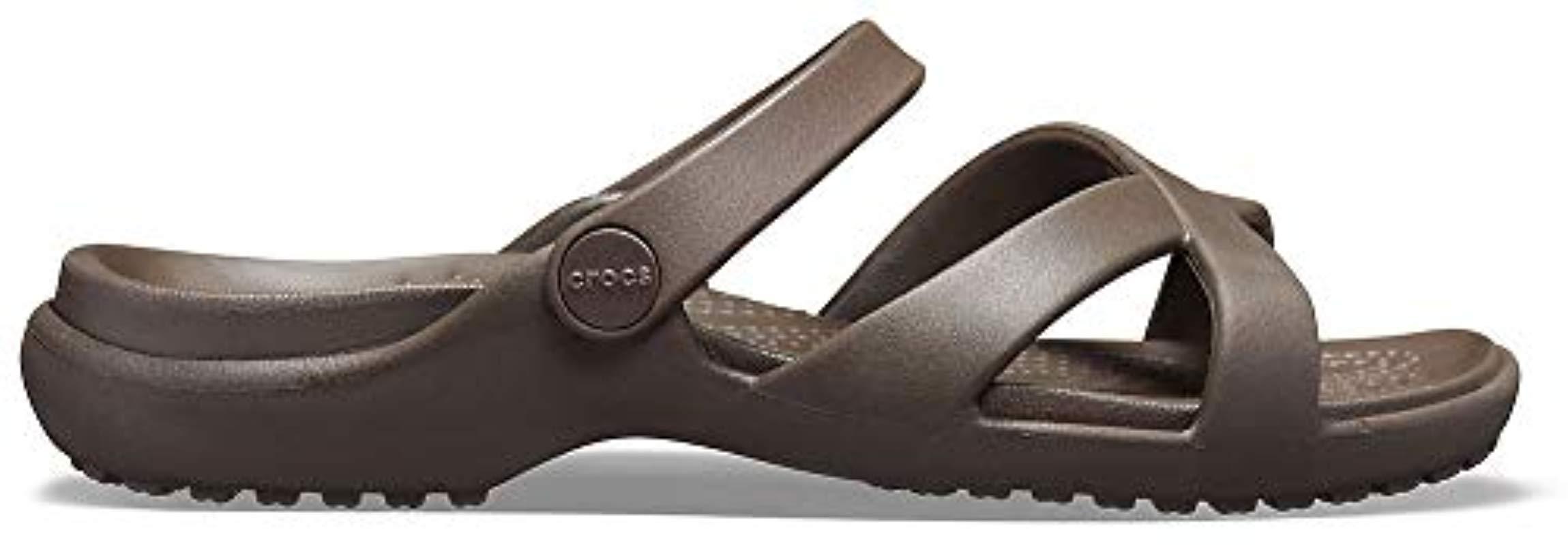 df64b4207 Crocs™ - Brown Meleen Cross Band Slide Sandal - Lyst. View fullscreen