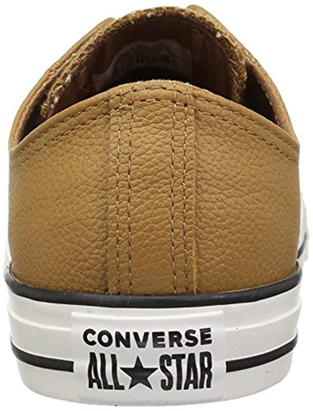9b0e2af58b41 Lyst - Converse Chuck Taylor All Star Tumbled Leather Low Top Sneaker
