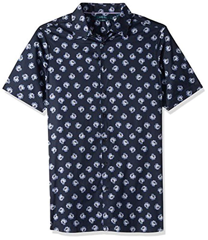 6011584640 Lyst - Perry Ellis Big And Tall Short Sleeve Cluttered Rose Shirt in ...
