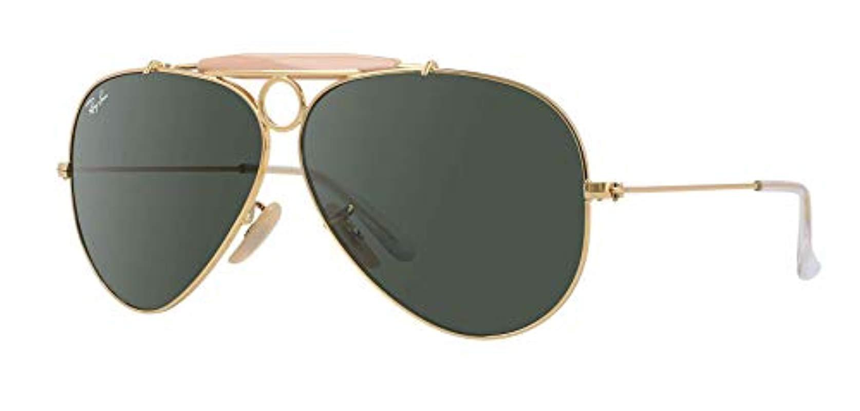 3ffbd881465 Lyst - Ray-Ban Shooter 3138 Aviator Sunglasses in Green for Men
