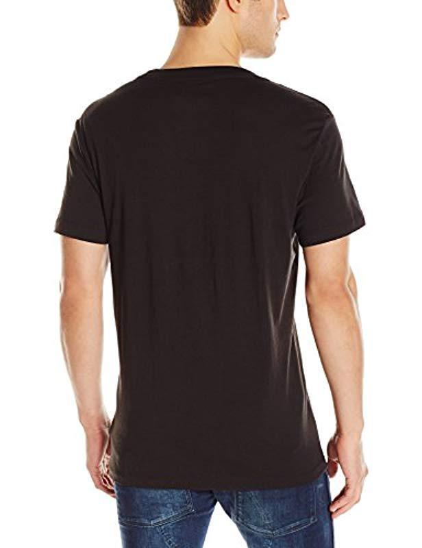 a99011a55e1 Lyst - G-Star RAW Manes Short Sleeve Logo T-shirt in Black for Men