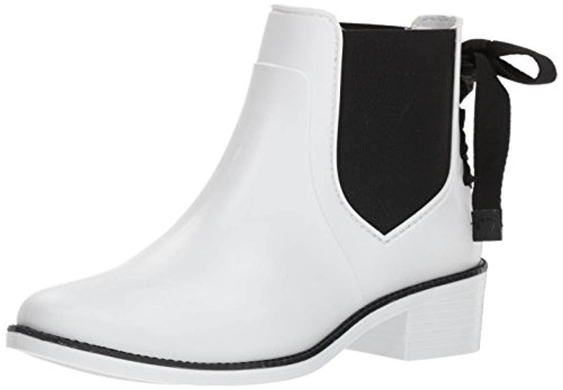f82f96df29e5 Lyst - Bernardo Paxton Waterproof Rain Boot in White - Save 78%
